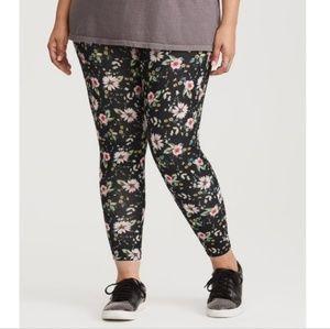 torrid womens 2x black floral leggings polyester s